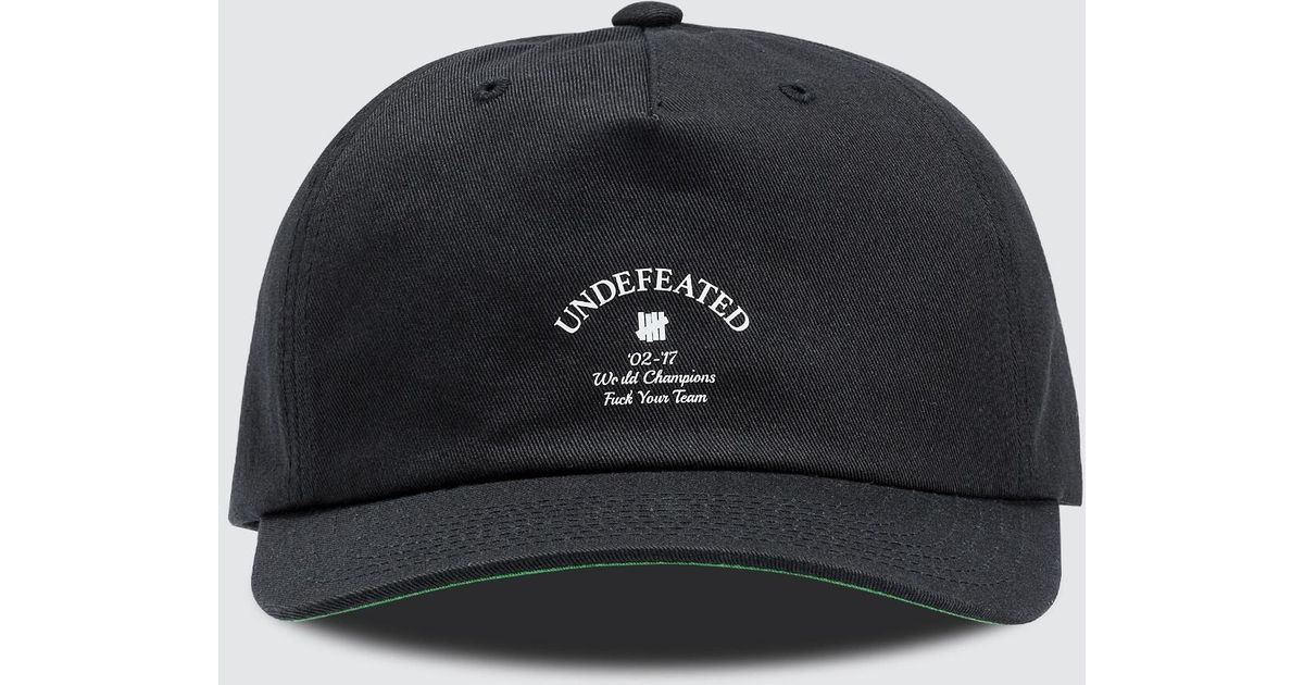 Lyst - Undefeated Champions Strapback Cap in Black for Men fd3c34750fa