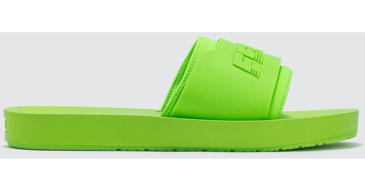 c14978a90b9fc0 PUMA Fenty X Puma Surf Slide Green Gecko in Green - Save 18% - Lyst