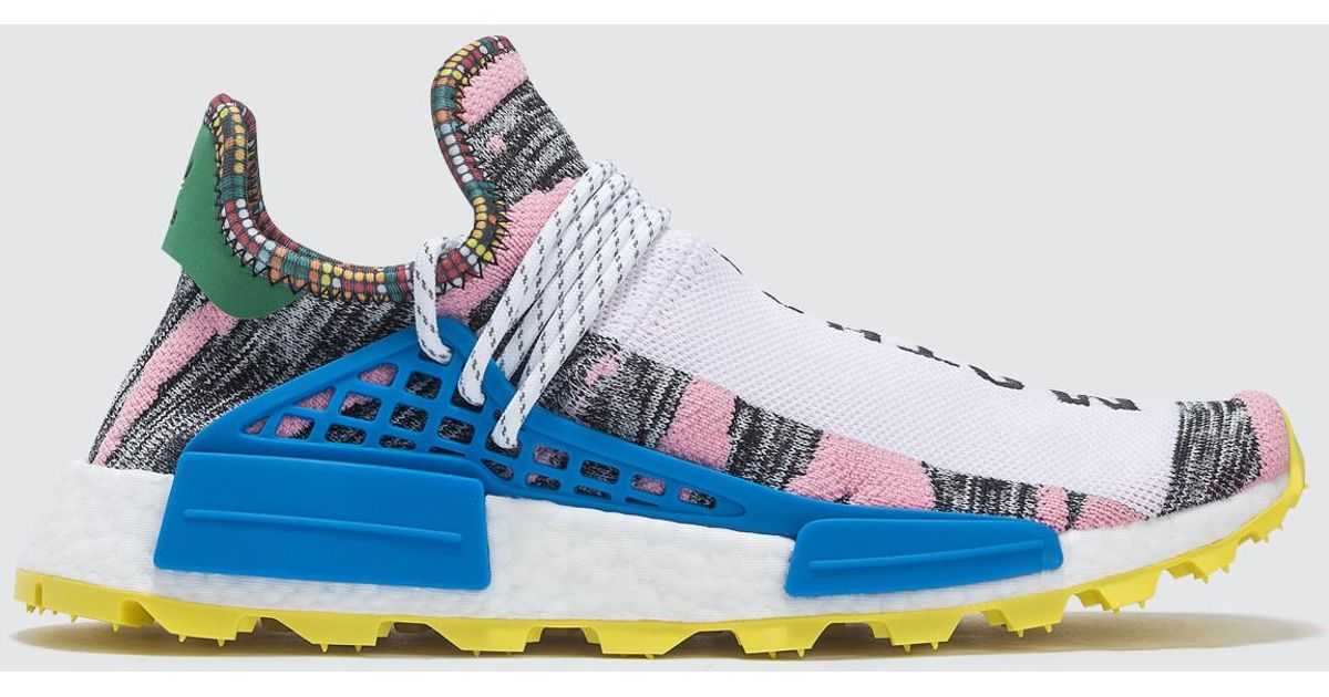 on sale 6f3ce 3246d Adidas Originals - Blue Pharrell Williams X Adidas Solar Hu Nmd for Men -  Lyst