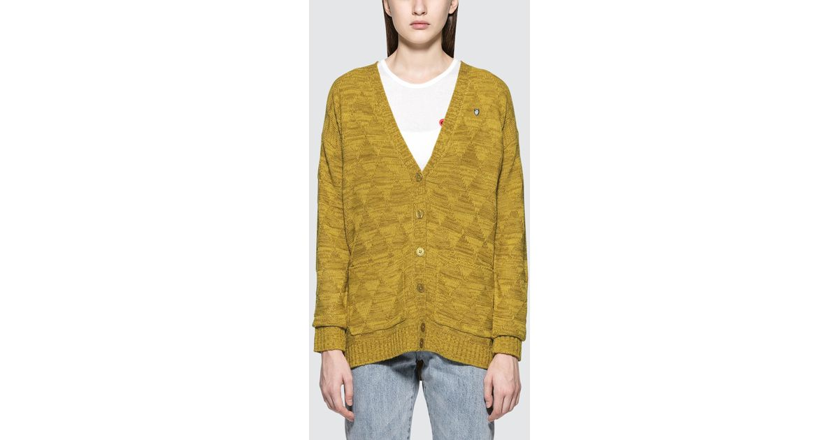 Obey Womens Newbury Cardigan Sweater