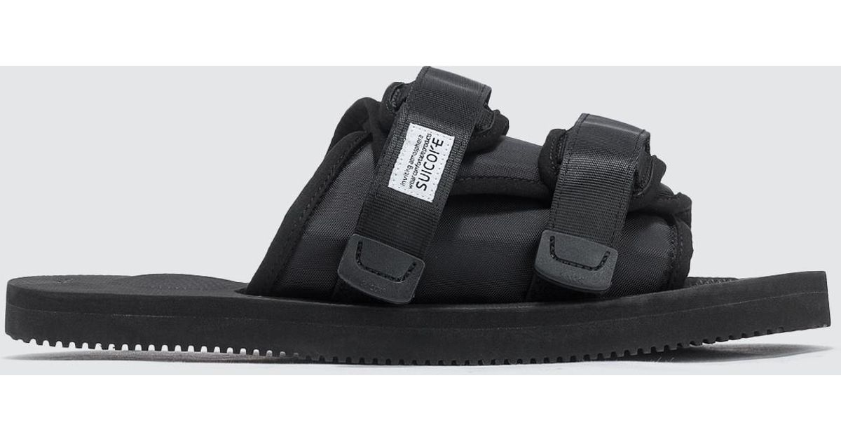 fa4a7aee552 Lyst - Suicoke Moto-cab Sandals in Black for Men