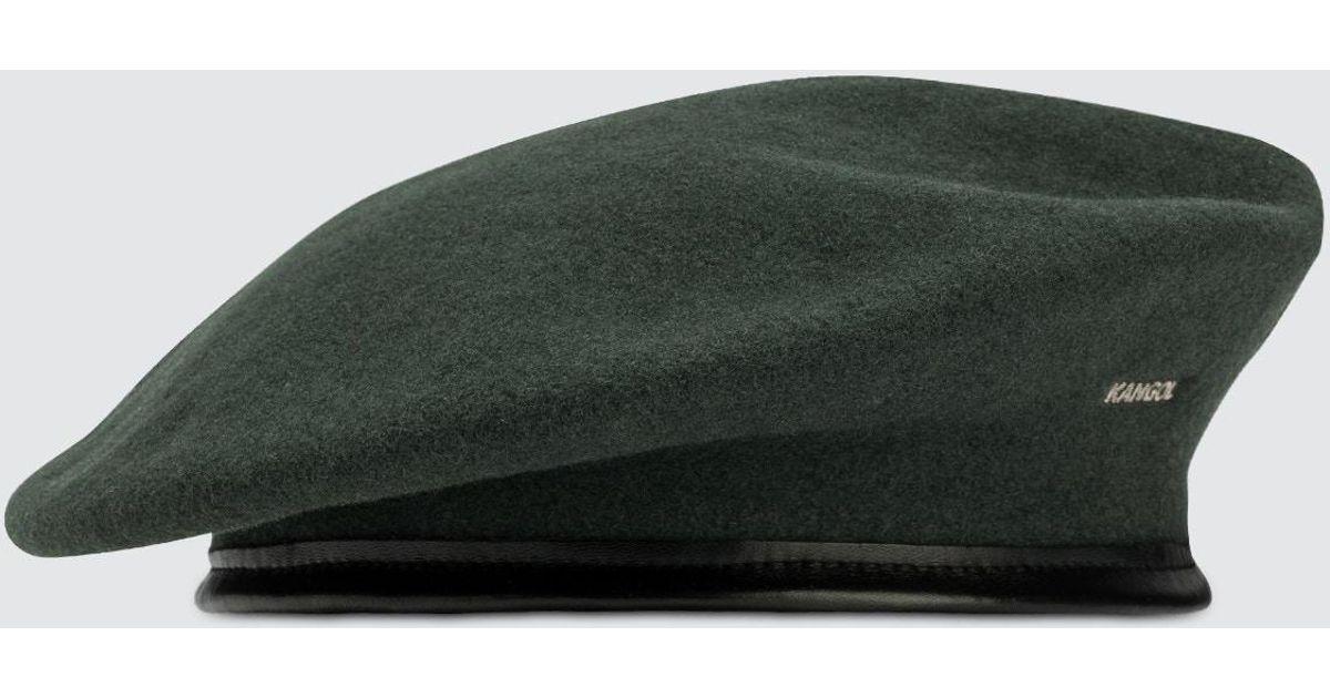 Lyst - Kangol Monty Beret in Green for Men 7ff7aafc836