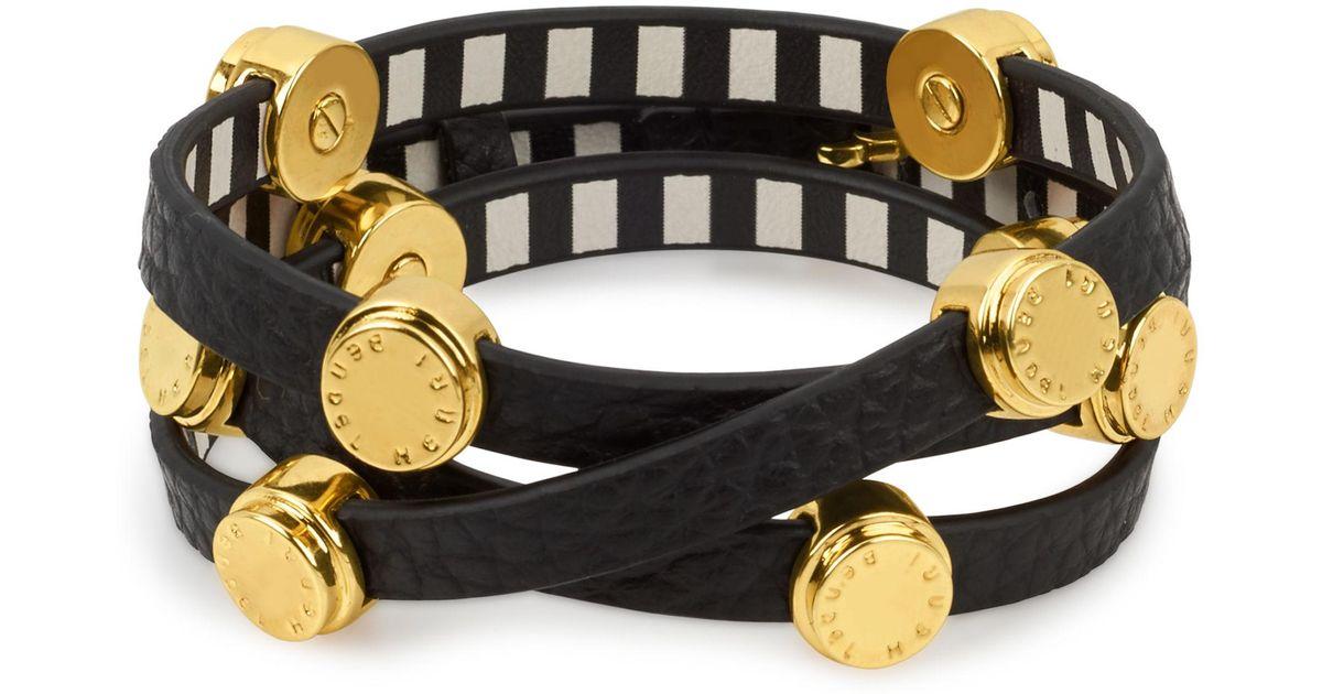 Lyst Henri Bendel Carlyle Triple Wrap Bracelet In Black
