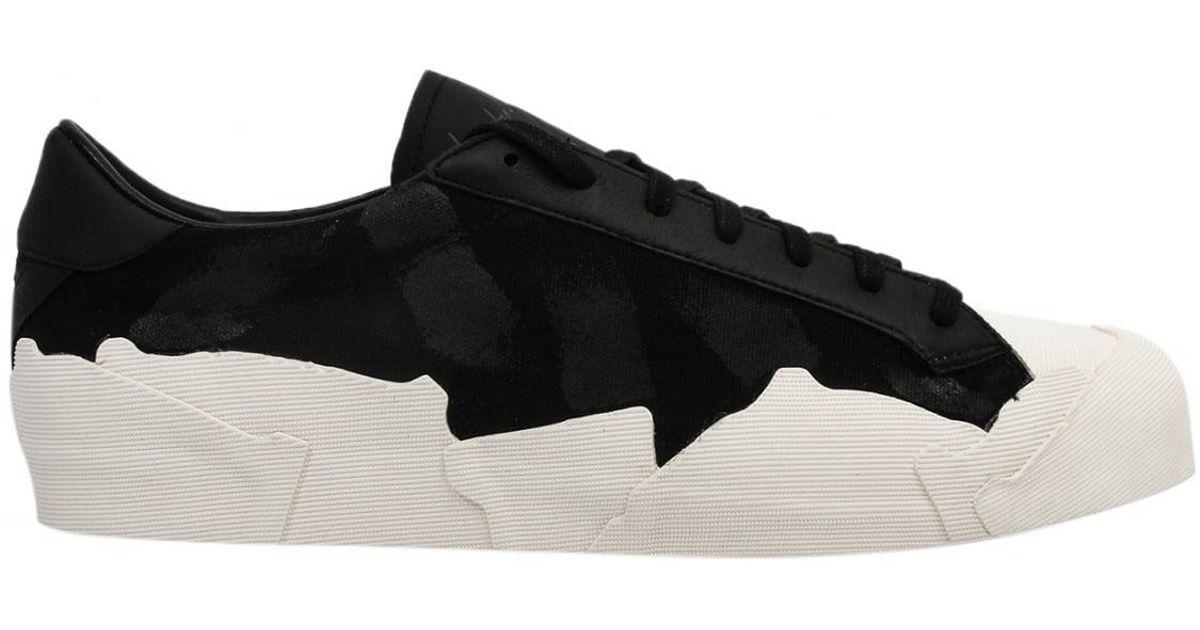 5e69e58f80f8a Lyst - Yohji Yamamoto Low Top Takusan Painted Sneakers In Black white in  Black for Men