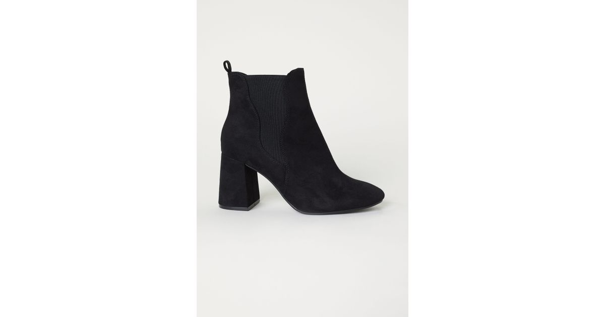 54990893fcca Lyst - H M Ankle Boots With Side Panels in Black