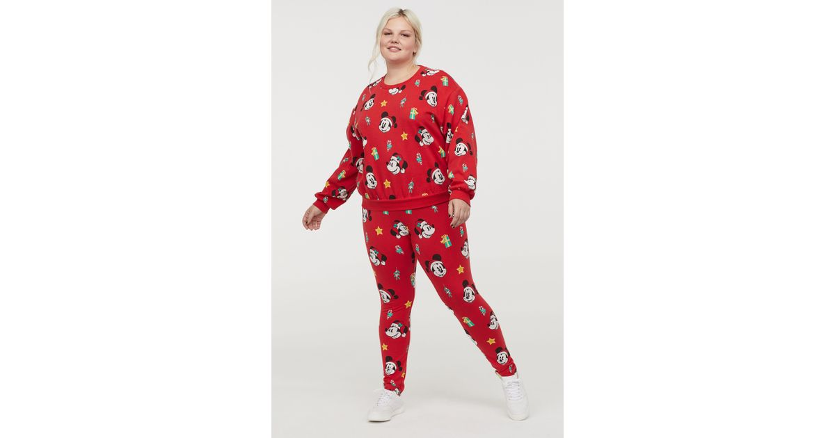 6085fae8ecabb Lyst - H&M H & M+ Patterned leggings in Red
