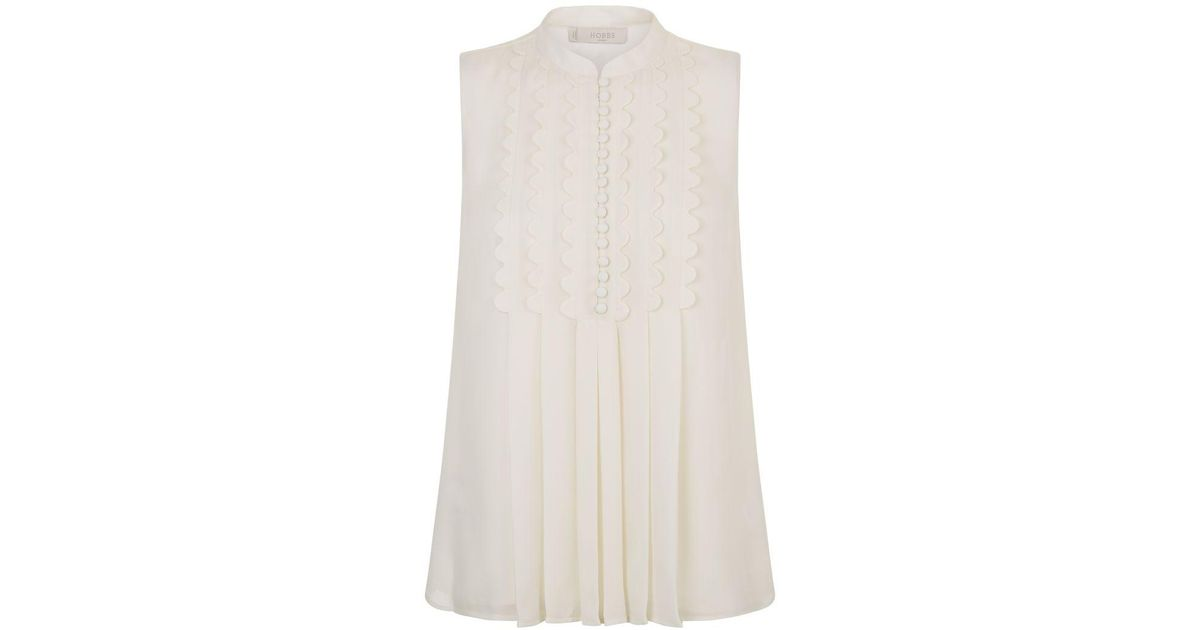 f2b6d3aa03129 Lyst - Hobbs Aoife Top in Natural