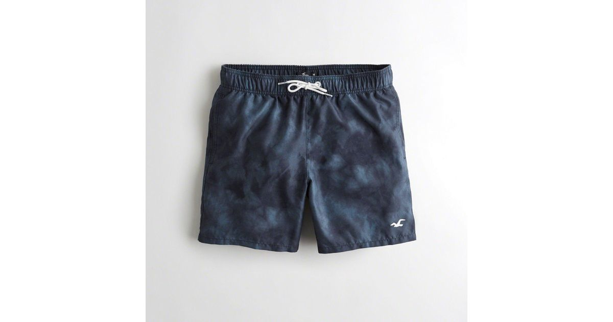 ab657f7944 Lyst - Hollister Guys Guard Fit Swim Trunks From Hollister in Blue for Men  - Save 42.857142857142854%