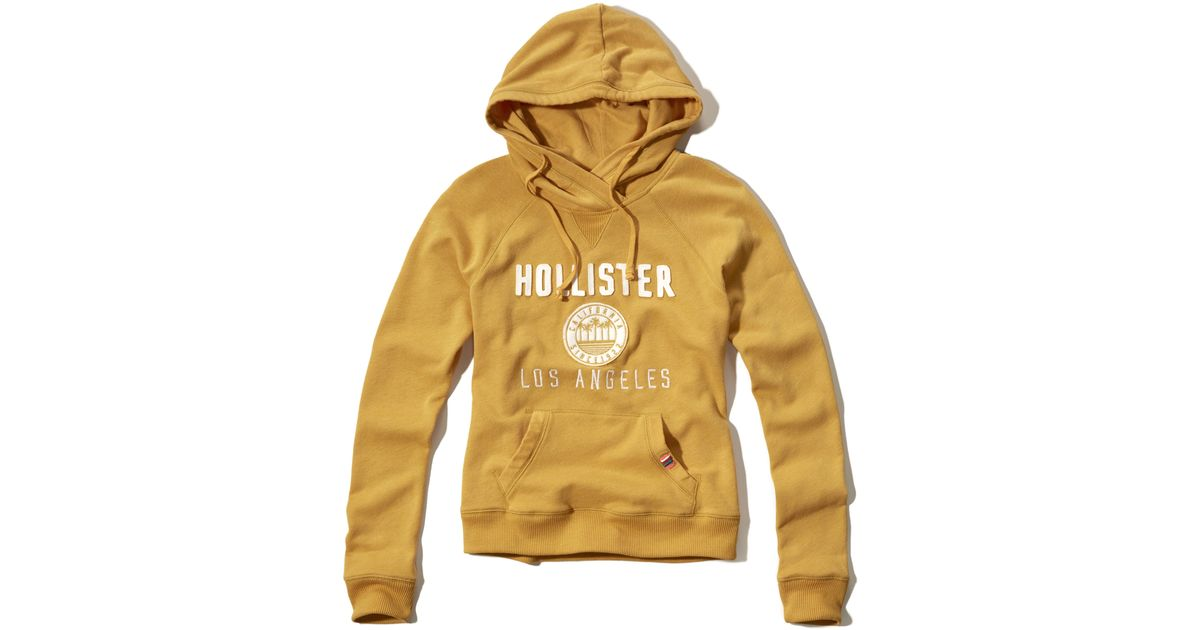 Hollister Sweaters Hollister Hoodies Hollister Shirts Hollister Jacket Hollister Pants Hollister Jeans: Hollister Logo Graphic Hoodie In Yellow