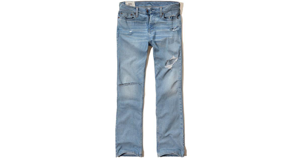 Hollister Slim Boot Jeans in Blue for Men   Lyst