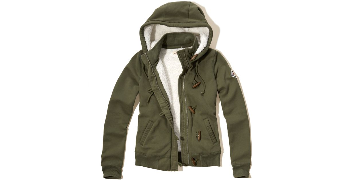 Hollister Sweaters Hollister Hoodies Hollister Shirts Hollister Jacket Hollister Pants Hollister Jeans: Hollister Sherpa Lined Toggle Hoodie