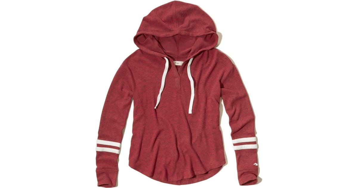 Hollister Sweaters Hollister Hoodies Hollister Shirts Hollister Jacket Hollister Pants Hollister Jeans: Hollister Textured Fleece Hoodie In Red