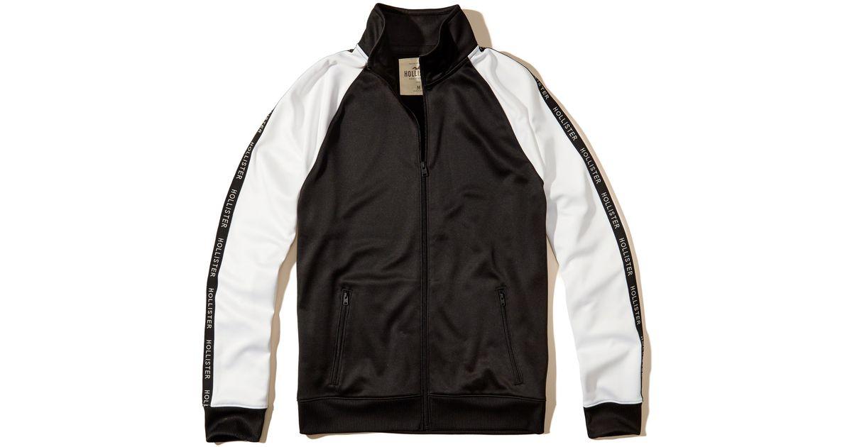 Hollister Sweaters Hollister Hoodies Hollister Shirts Hollister Jacket Hollister Pants Hollister Jeans: Hollister Logo Track Jacket In Black For Men