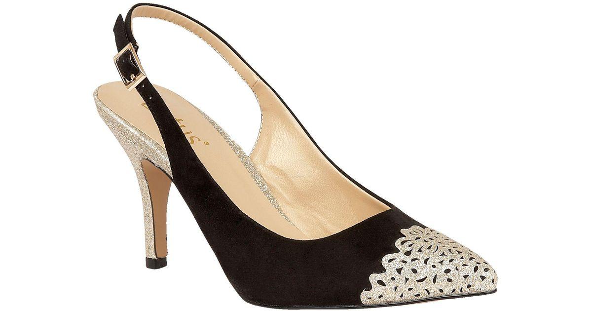 51b1d4a65930 Lotus Arlind Glitz Heels in Black - Lyst