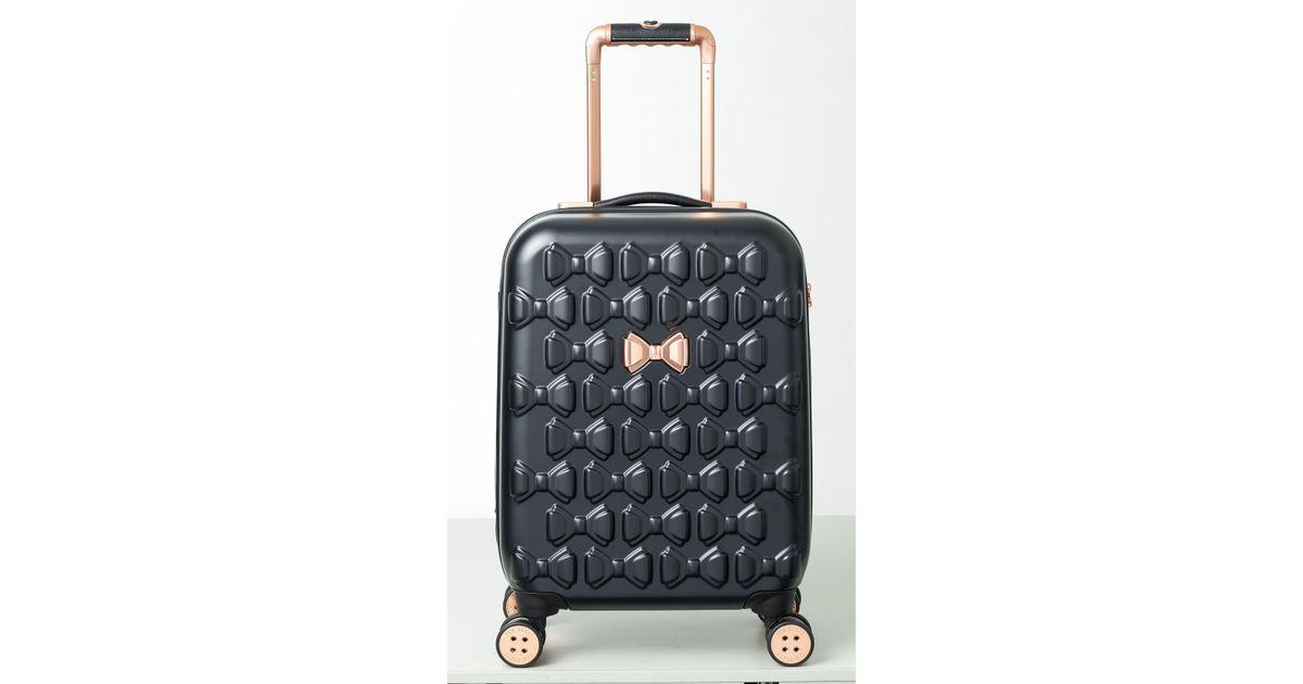 e98aba06d39 Ted Baker Beau Black 4 Wheel Cabin Suitcase in Black - Lyst