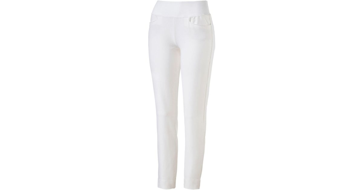 Puma Pull On Trouser in White - Lyst da985bb848