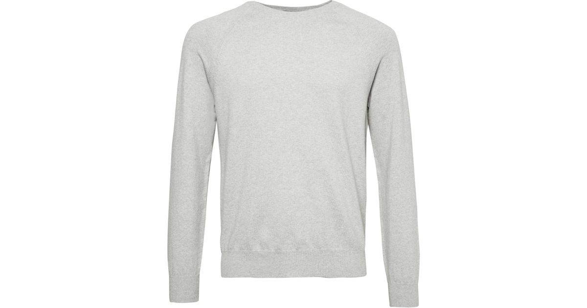 887ee10cbd219 French Connection Men s Stretch Cotton Crew Neck Jumper in Gray for Men -  Lyst