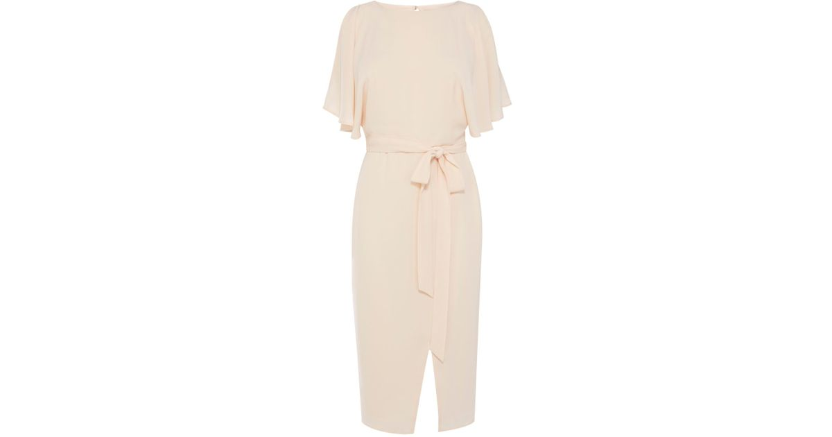 Coast Elina Cold Shoulder Dress in Natural | Lyst