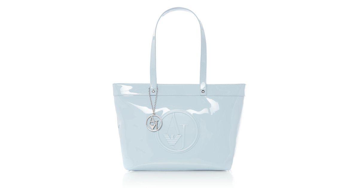 Armani Jeans Vernice Tote Bag in Blue - Lyst faec04a82d