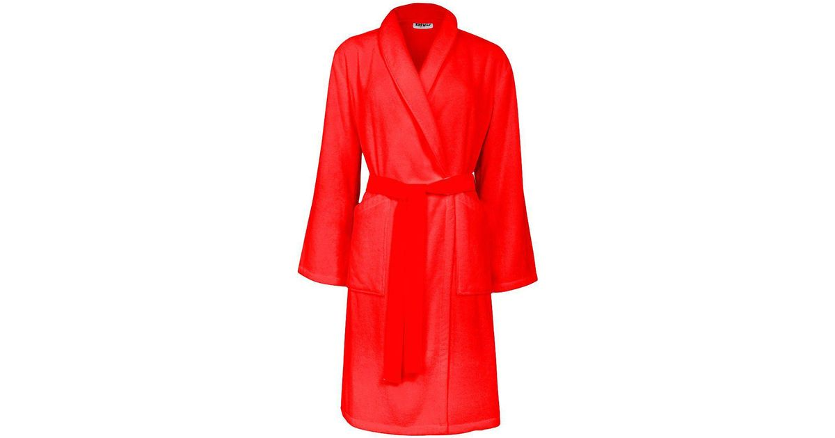 96d54a3dec Kenzo Iconic Bath Robe in Red - Lyst