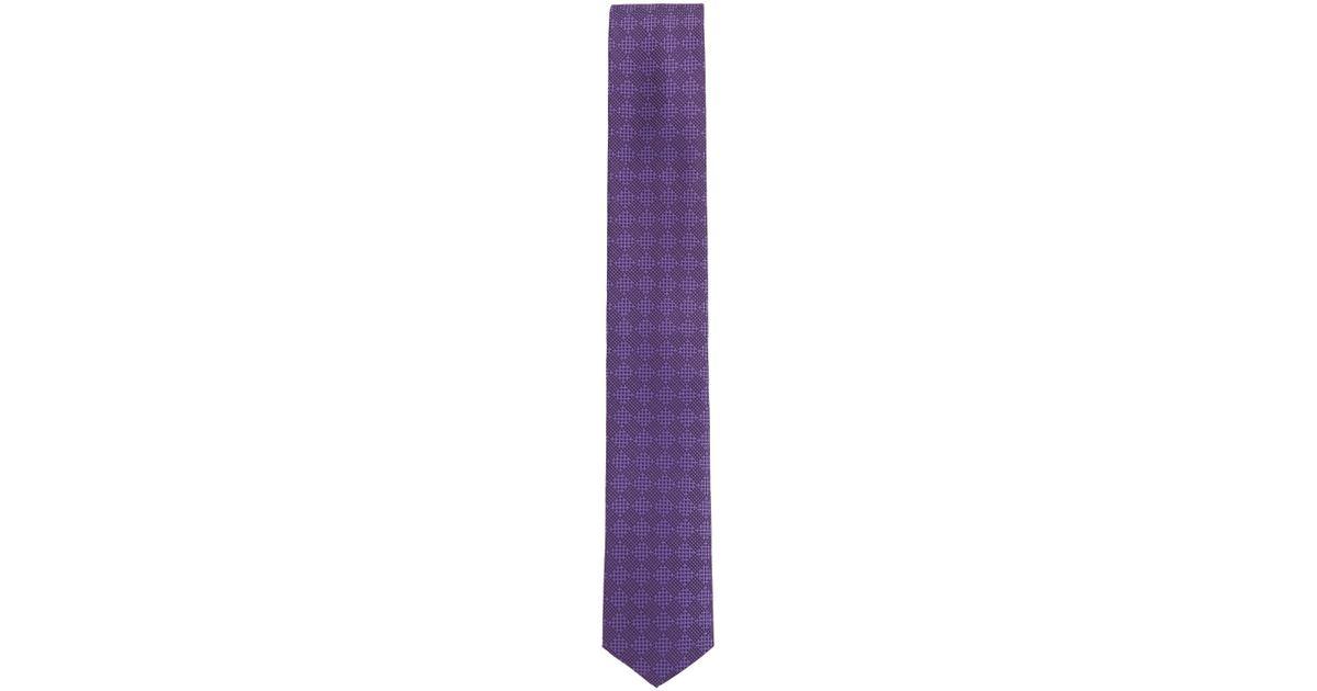 Tonal jacquard tie in water-repellent silk BOSS PFiNA2A