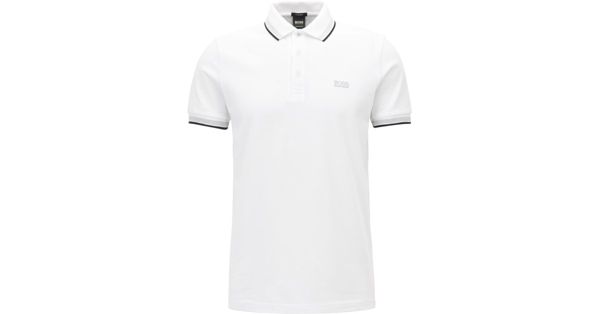 b6b7efcd Lyst - BOSS 'paddy' | Modern Fit, Cotton Polo Shirt in White for Men