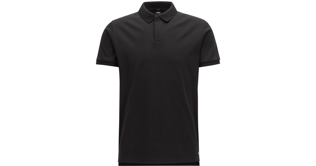 59b9aacd BOSS Mercedes-benz Cotton Polo Shirt, Slim Fit | Pollard in Black for Men -  Lyst
