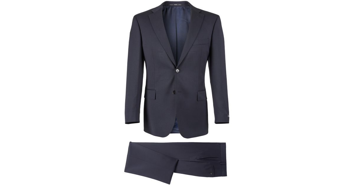 77583cf39 Lyst - BOSS Virgin Wool Suit, Comfort Fit | Pasolini/movie in Blue for Men