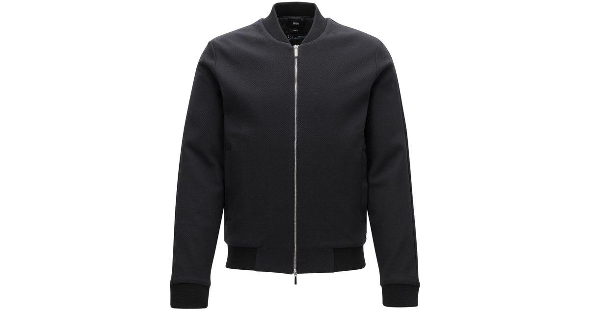 Lyst Boss Mercedes Benz Cotton Zip Jacket Soule In Black For Men