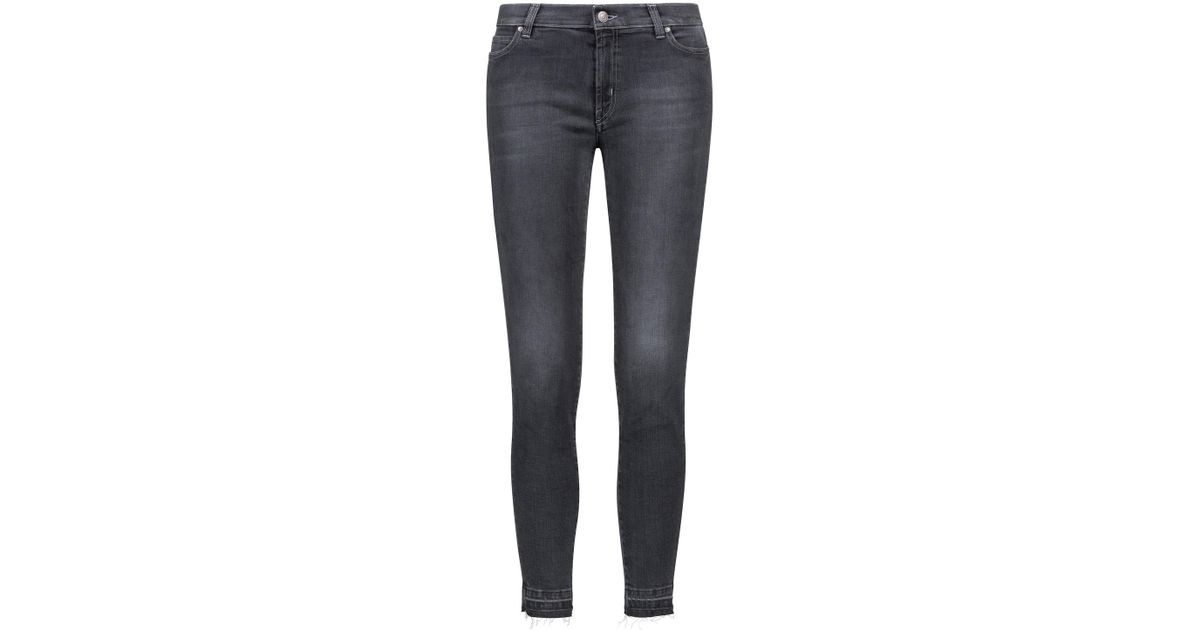 Extra-slim-fit cropped jeans with raw-cut hems HUGO BOSS q3hwl5jN