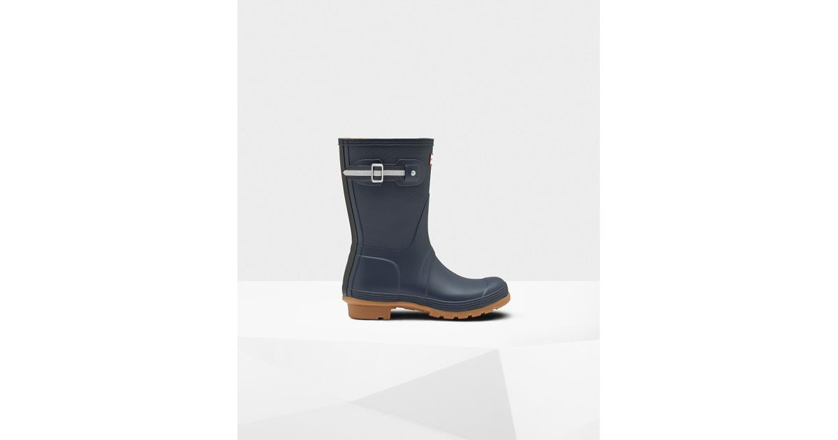 f39933b4f HUNTER Women's Original Sissinghurst Short Rain Boots in Blue - Lyst