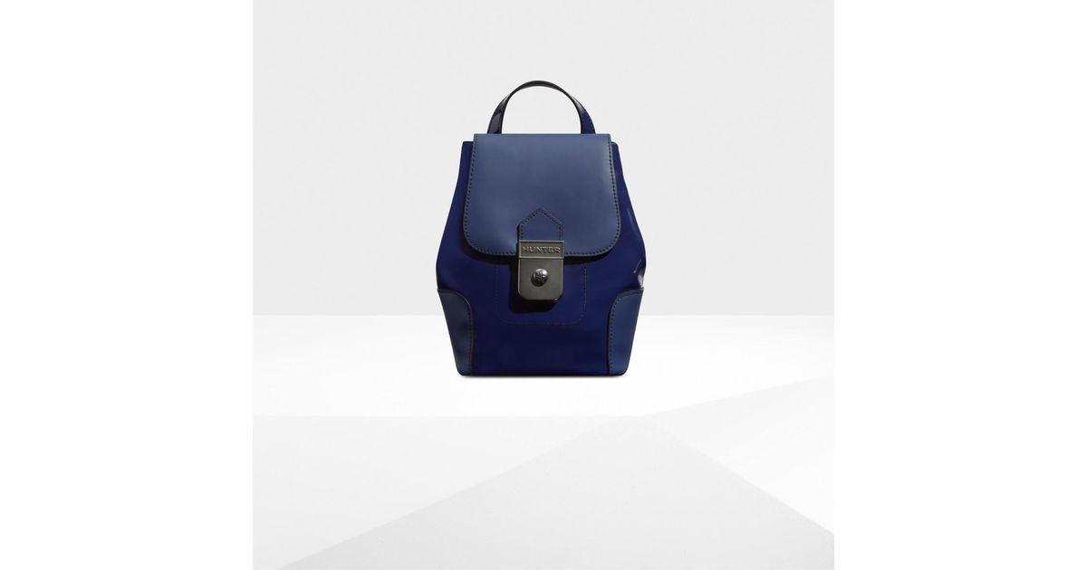95c455a43b7 Blue Leather Mini Backpack