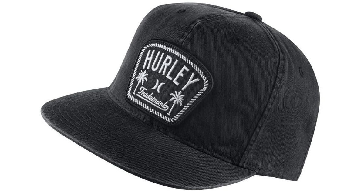 Lyst - Hurley Roped In Adjustable Hat (black) - Clearance Sale in Black for  Men 4ed6f3cc54ef