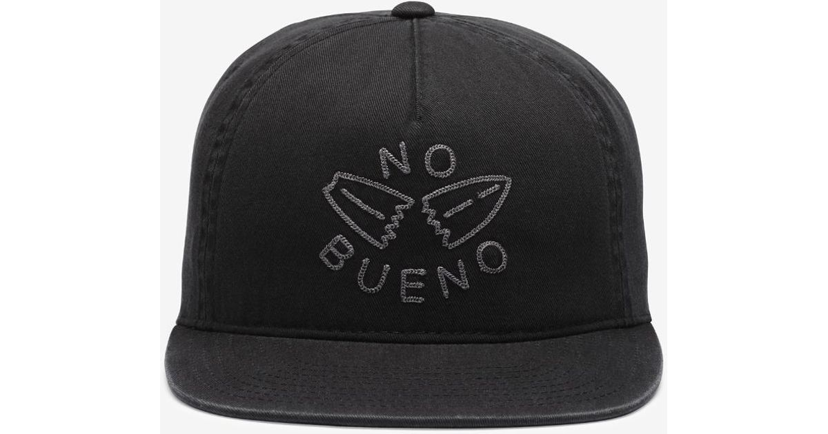 ... sale lyst hurley no bueno adjustable hat black in black for men cfe76  3ddc9 163e290fec53