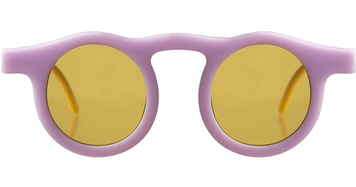 f1272ffff6 Lyst - Illesteva Marlene Sunglasses I Lilac   Creamsicle With Honey See  Through Lenses