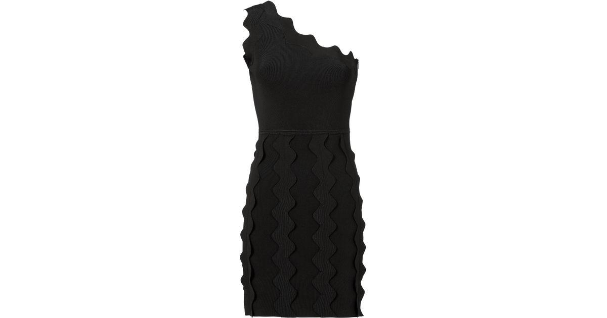 Lyst david koma zig zag applique knit dress in black