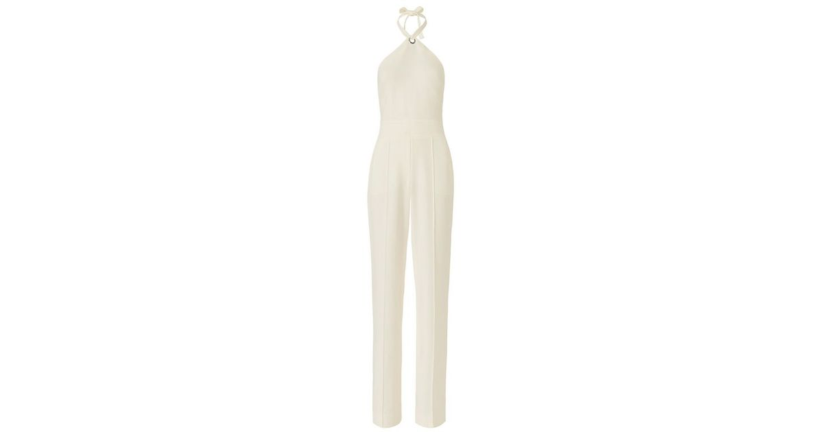 9f83d68f7369 Lyst - A.L.C. Corinna Halter Ring Jumpsuit in White