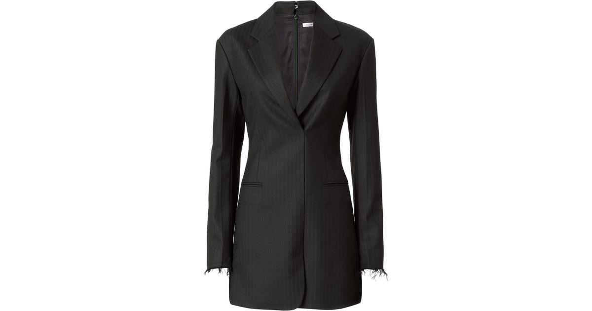 56acd10e2bbc Helmut Lang Herringbone Blazer Dress in Black - Lyst