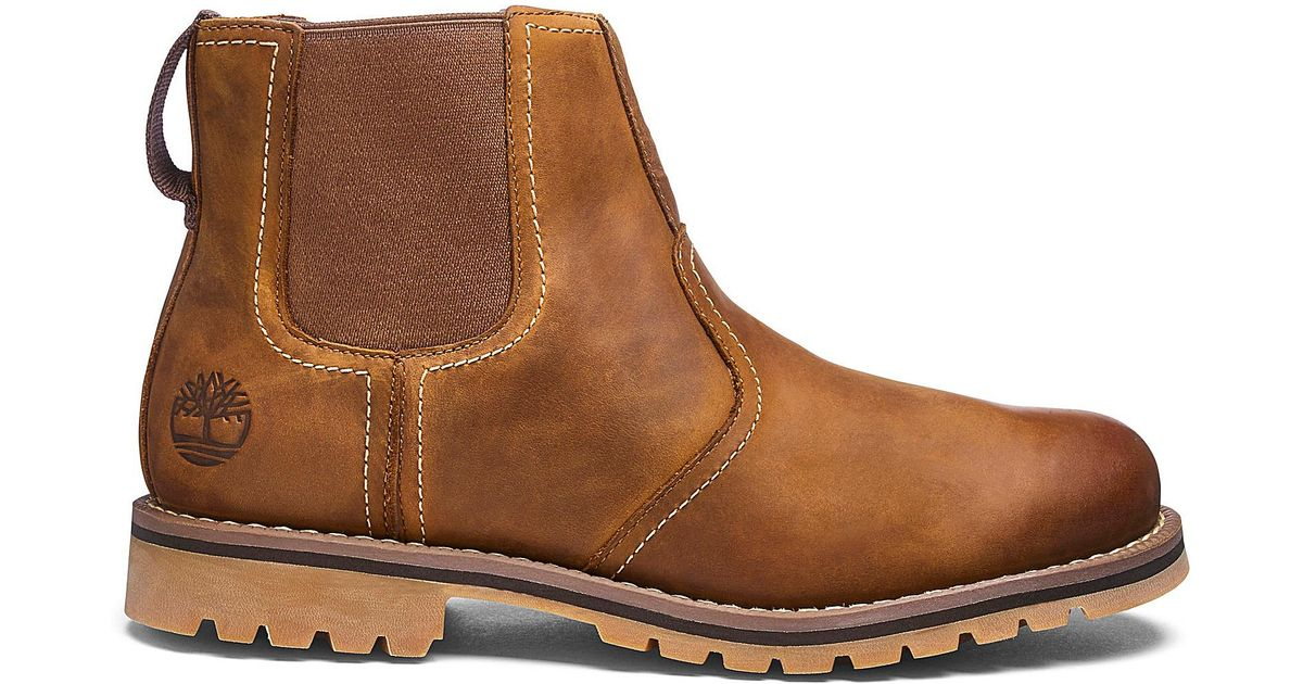 9e4350d9a3fb Timberland Larchmont Chelsea Boots in Brown for Men - Lyst