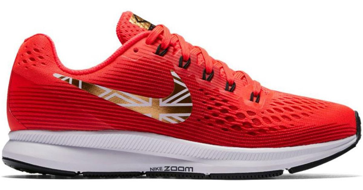 3a90a58a5bf5 Lyst - On Women s Nike Air Zoom Pegasus 34 Running Shoe - Mo Farah Editi in  Red for Men