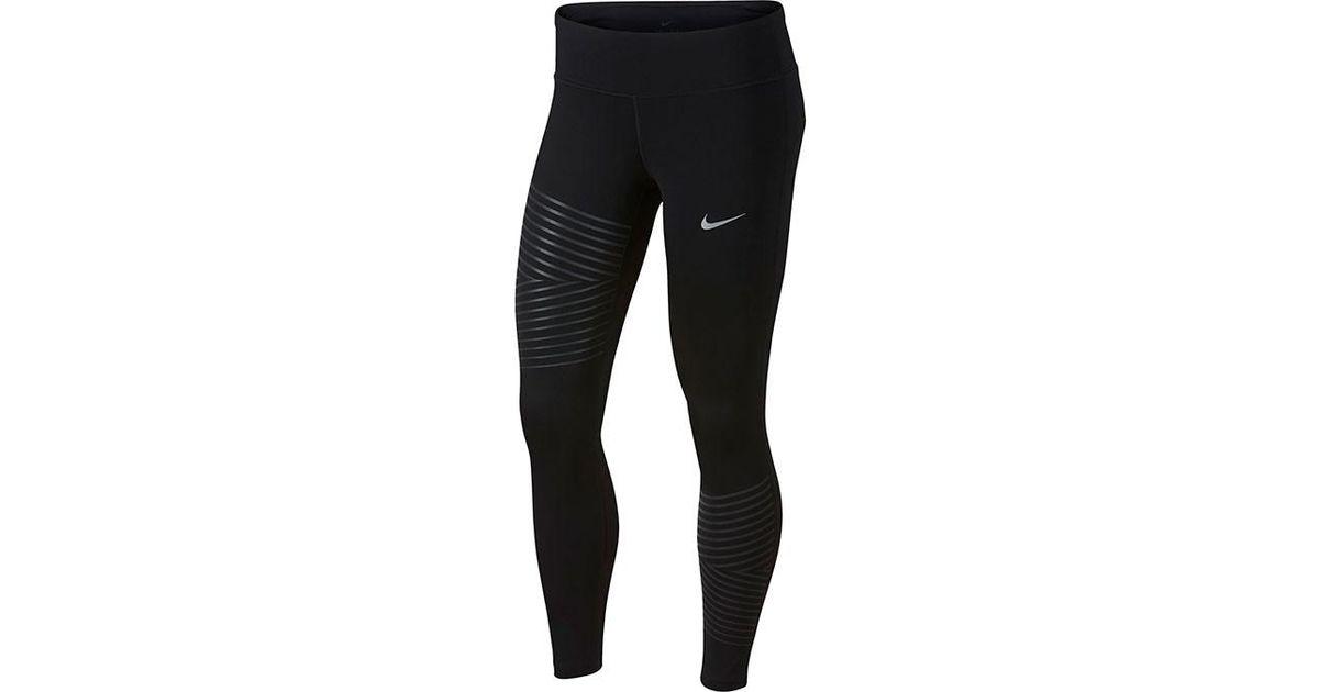 Lyst - Nike Women s Power Epic Run Flash Running Tights in Black c012425550