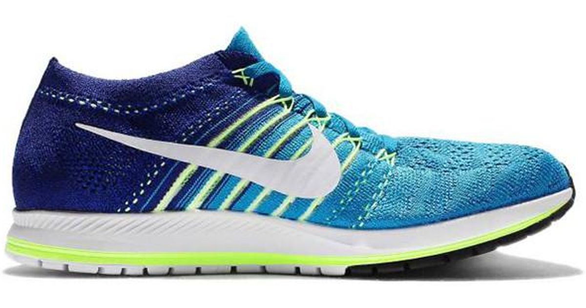 c2a6abd76da4 Lyst - Nike Air Zoom Flyknit Streak 6 Running Shoes in Blue for Men