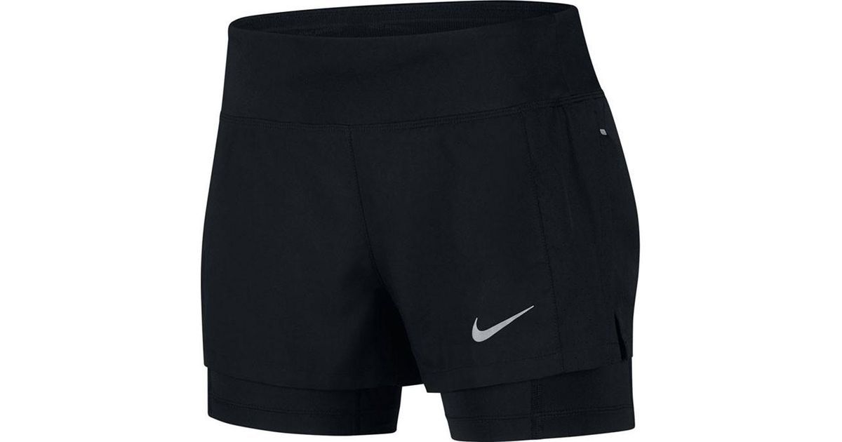 big sale b004f 21ae1 Lyst - Nike Women s Eclipse 2-in-1 Shorts in Black