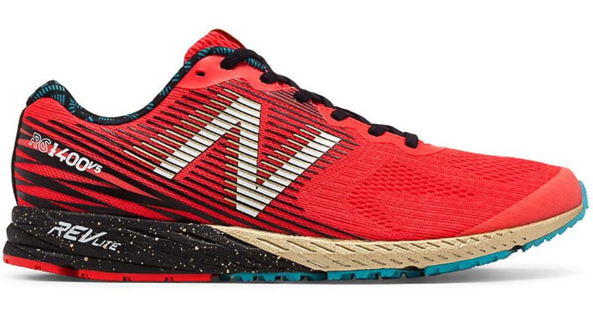newest 4e400 0d4cc On - Red Men's New Balance 1400v5 Running Shoe - Nyc Marath for Men - Lyst