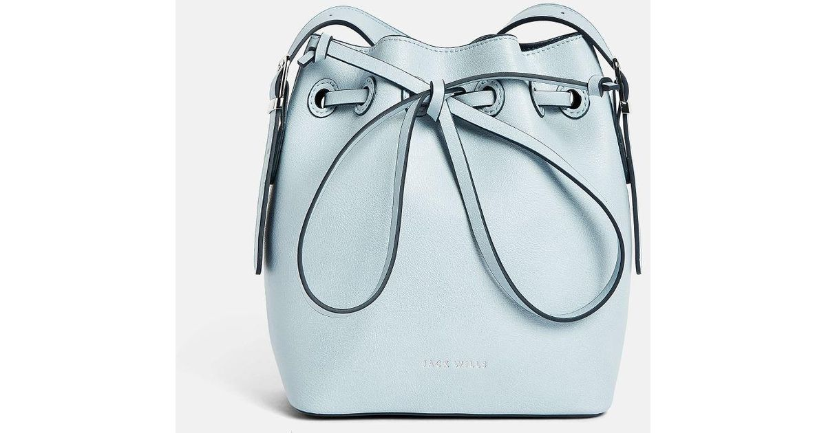 Lyst - Jack Wills Farringdon Mini Bucket Bag in Blue