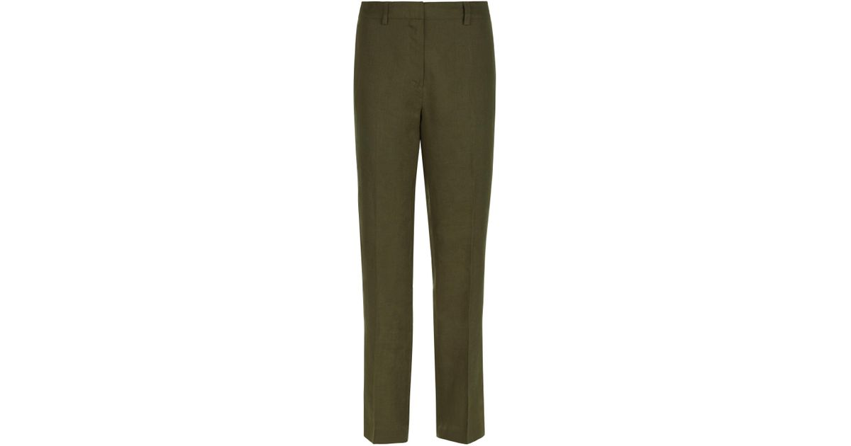 16cee3228a Lyst - Jaeger Linen Parallel Leg Trousers