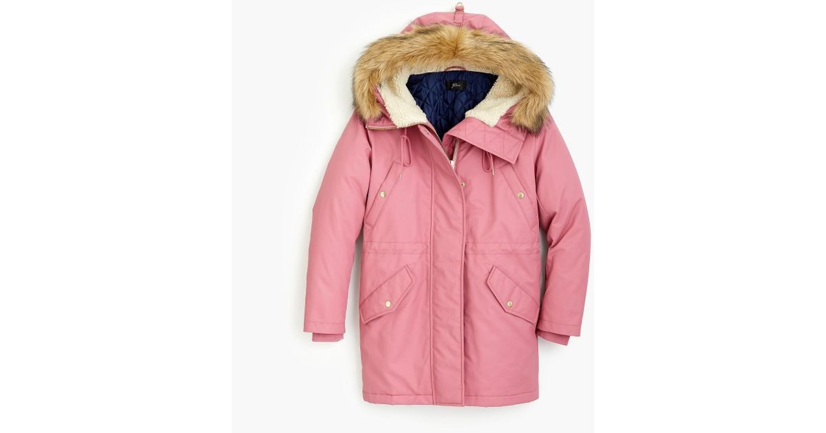 0688f0071544 Lyst - J.Crew Perfect Winter Parka in Pink
