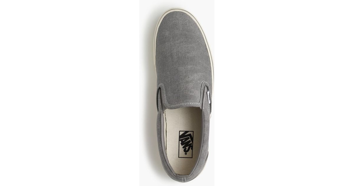 dfbb358bffd Lyst - Vans Washed Canvas Classic Slip-on Sneakers in Metallic for Men