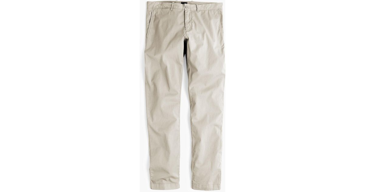 cd384541869c J.Crew 484 Slim-fit Lightweight Garment-dyed Stretch Chino in Natural for  Men - Lyst