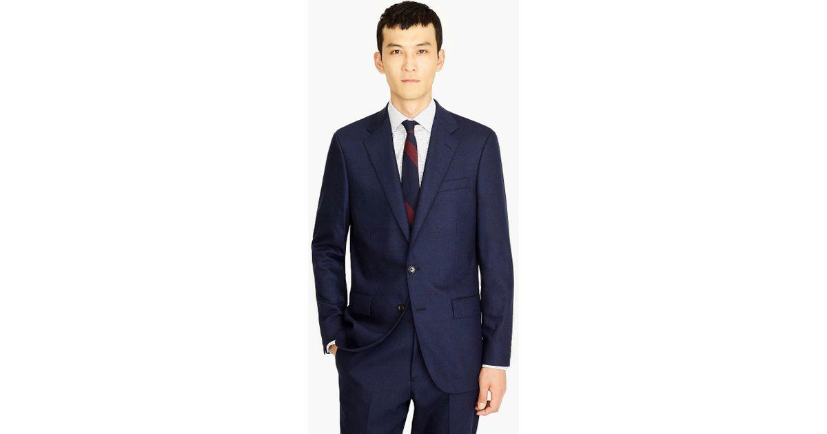 0cb88fc494590f J.Crew Ludlow Classic-fit Suit Jacket In Italian Stretch Wool Flannel in  Blue for Men - Lyst